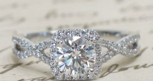 Cushion Halo and Twist Engagement Ring