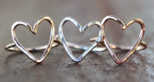 Heart Ring / Love Jewelry / Simple Ring / Simple / Love Ring / Gold Ring / Sterling Silver Jewelry / Boho Chic / Heart / Simple Jewelry