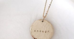 Meaningful and simple hand stamped necklaces from Made By Mary #jewelry #necklac...