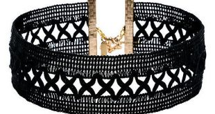 Vanessa Mooney Only Kisses Black Lace Choker Necklace (64 TND) ❤ liked on Poly...