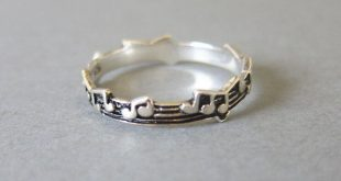 Winzige Sterlingsilber Musik Hinweis Ring, Ring Musik, jeden Tag Schmuck, einfache Ring, ...