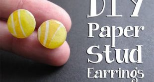 DIY Paper Stud Earring Tutorial {video}: Learn how to make these cute + colorful...