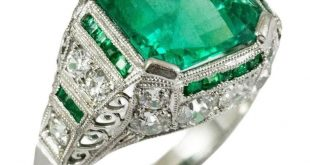 Details about Green Asscher Cut Engagement Ring Vintage style 925 Sterling silver Women Party