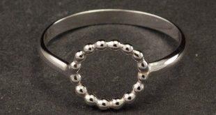 Eenvoudige Zilveren Ring - Sterling zilveren Ring-moderne cirkel Ring - Handmade Sterling Silver Ring-6, 7, 8