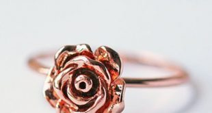 Rose Gold Ring Modern Dainty Simple Everyday Jewelry