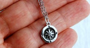 Sterling Silver Compass Necklace, tiny compass charm, small compass pendant, travel gift, graduation gift, dainty compass jewelry