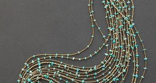 Turquoise necklace multi strand statement necklace Kingman – #Kingman #Multi #Ne