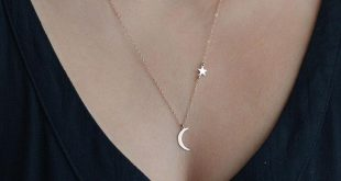$0.99 - Nice Simple Moon Star Choker Necklace Gold Silver Chain Jewelry Accessor...