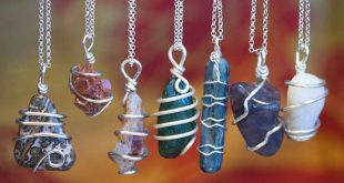 Chakra Stone Wire Wrap Necklaces for energetic balance