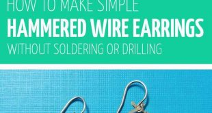 Click to learn how to make wire earrings with a cool hammered finish in this ham...