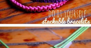 #DIY -- Learn how to make stackable square knot/cobra stitch bracelets. Pin now,...
