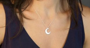 Delicate Moon Phase Necklace • Dainty Crescent Moon Necklace Silver • 14k Gold Fill, Sterling Silver, Rose Gold • Layered and Long • LN116