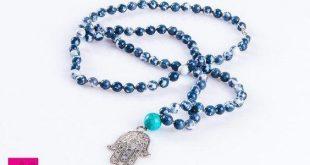 Men's Necklace, Hamsa Jewelry, Boho Necklace, Mala Necklace, Tibetan Jewelry, Long Mala Necklace, Chakra Mala, Yoga Mala, Beaded Mala