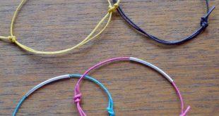 Noodle Bead Bracelet with Sliding Knot Tutorial