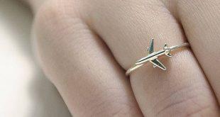 Reisen Ring, Flugzeug Schmuck Ring, Geschenke für Piloten, Infinity Symbol Ring, Silber Flugzeug, Flugzeug Ring, Flugbegleiter Reise Ideen Geschenk