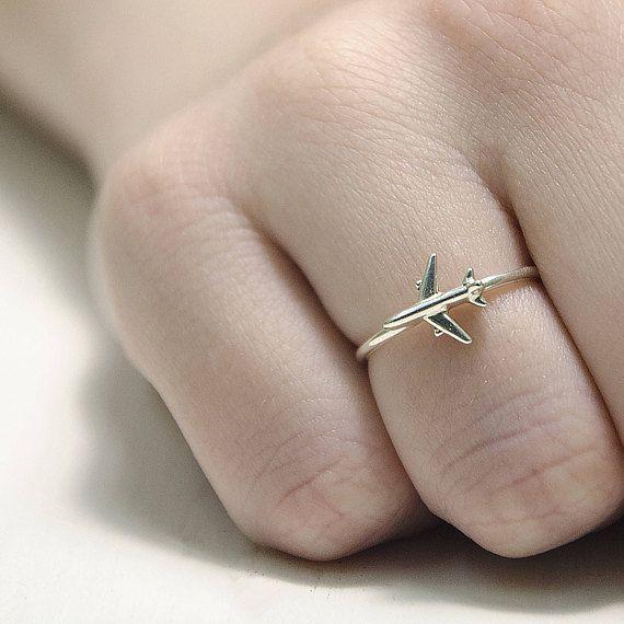 reisen ring flugzeug schmuck ring geschenke f r piloten infinity symbol ring silber flugzeug. Black Bedroom Furniture Sets. Home Design Ideas
