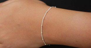 Sterling silver bracelet, dainty bracelet, simple silver bracelet, minimalist bracelet, satellite ch