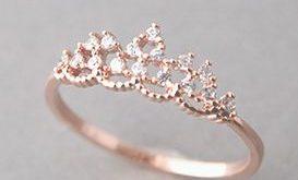 Swarovski Rose Gold Triangle Knot Earrings Studs