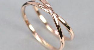 14K Rose Gold Infinity Ring, Eternity Band, Unique Wedding Band, Rutledge Jewelers