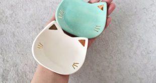 DIY-ideeën met katten - Cat Ceramic Dish - Leuke en eenvoudige doe-het-zelfprojecten voor Cat Love