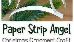 Einfache Weihnachtsverzierung Fertigkeit für Kinder: DIY Papierstreifen-Engels-...