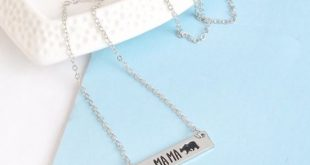 Mama Bear Necklace Silver Mama Bear Necklace Silver Sizes: 16 inches with 2.5 in...