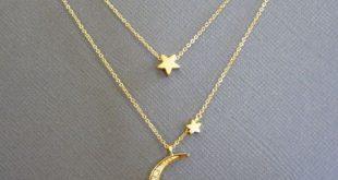 Moon And Star Halskette, Mondkette, Mutter Tochter Mond und Star Halskette, Crescent Moon Halskette, Beste Geschenke für Frauen, Geschenk für Mama