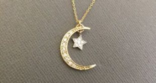 Moon And Star Necklace, Moon Necklace, mother daughter moon and star Necklace, Crescent Moon Necklace, Best Gifts for Women, gift for mom