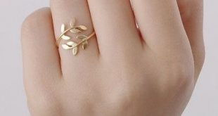 Olivenzweig-Blattring - MeetYoursFashion Olive branch leaf ring – MeetYoursFa...