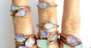 Roh Opalring, rohen Stein-Ring, Stapeln Ringe, stapelbar Edelstein-Ring, Opal, australische Opalring, Ring der Frauen, grobe Opalring, Geschenk für Sie