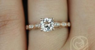 Rosados Box Helena 6mm 14kt Rose Gold Round Morganite and Diamond Engagement Ring
