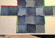Tasche des alten Jeans-Tutorials. www.handmadiya.co ... #alten #handmadiya #jea...