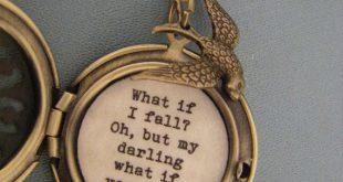 Was, wenn ich fällt, Oh, aber mein Liebling was, wenn Sie fliegen, Lockle, Halskette, Messing Locket