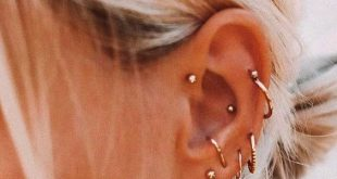 46 Ear Piercings for Women Beautiful and Cute Ideas - #beautiful #Cute #Ear #Ide...