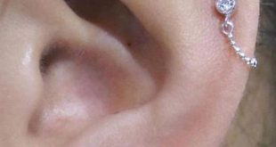 Alva Swarovski Kristall 16G Ohr Piercing Ohrring Labret Lip Barbell Stud 4-teiliges Set