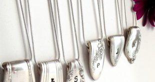 Anfängliche Kette tafelsilber Schmuck personalisierte loesung Ende Hand gestempelt Jahrgang Braut Halskette Partei Mütter Halskette Oma Geschenk unter 25
