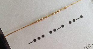 BFF Morsecode-Halskette in Sterling Silber oder 14k Gold gefüllt, beste Freunde Schmuck Memospiel Halskette