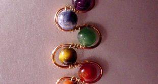 Best Seller - 7 Chakra Pendant Copper Wire Wrap Semi Precious, Balance, Harmonize Energy Centers, Reiki Jewelry, Yoga Jewelry