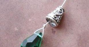 Briolette Ohrringe machen und Draht wickeln - Die Perle ... #briolette #draht #...