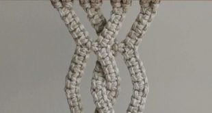 DIY Macrame Tutorial - Another Geometric Pattern Using Square Knots! - YouTube