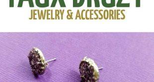 Druzy Earrings DIY Tutorial - Faux Druse Studs