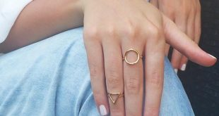 Gold Open Ring, Boho Ring, Gold Circle Ring, Triangle Ring, Knuckle Ring, Adjustable Ring, Gold Ring, Geometric Ring, Gold Accessories