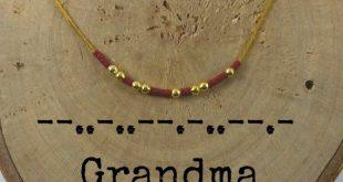 Halskette mit Geheimbotschaft Oma Morse-code Sie können die bunten Halsketten g...