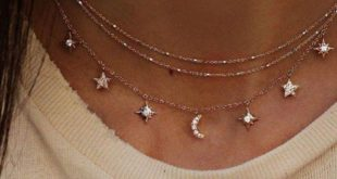 Mode Choker Halskette Stern Mond Kette Link Design Gold Frauen Sommer Schmuck - ...