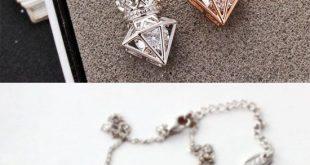 Neue Rose Gold kurze Kette Zirkon Krone Diamant Anhänger Halskette ist so süß! #c ... - Papier Kunst