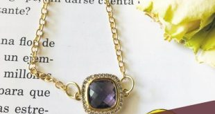 PURPLE AMETHYST PENDANT NECKLACE AUSTRIAN CRYSTAL FACETED SQUARE PENDANT WHITH A...