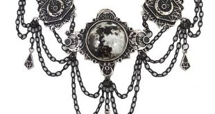 Restyle Gothic Victorian Moon Geometry Choker Crescent Moon Jewelry Necklace - C212O2TUUVI