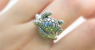 Schildkröten-Ring Bestellen. Silber Zinn Ocean Turtle Ring, Meer, Aquatic, nautische Ringe, Silber, grau, Tier, Schmuck Ringe, Schmuck für Kinder