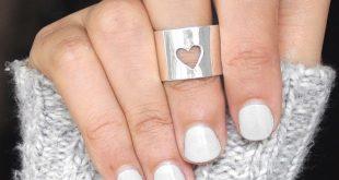 Schmuck breites Band Herz einfachen Ring, 925 Sterling Silber Ring, Manschette Rohr Ring, Anw...
