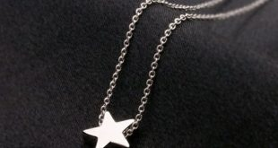 """Simple silver star necklace Zinc alloy 16"""" + 2"""" extender other listings: ..."""